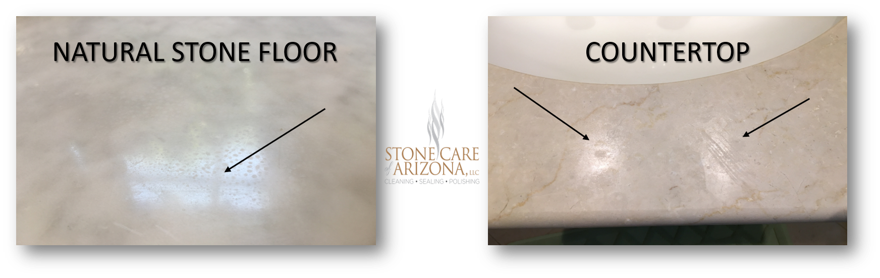 HOW TO REMOVE AN ETCH ON MARBLE, TRAVERTINE & LIMESTONE IN S