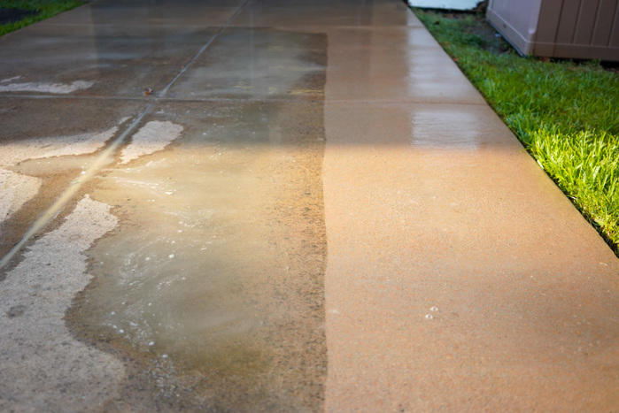 Pressure Washing results
